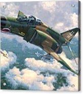 F-4e Mig Killers Acrylic Print by Stu Shepherd
