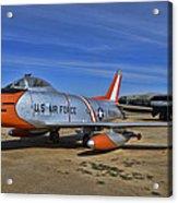 F-86h Sabre Acrylic Print