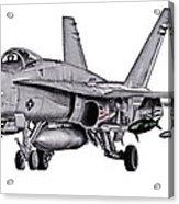 F/a-18c Forward Quarter Acrylic Print