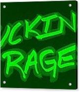 F R Green Acrylic Print
