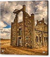 F. Schott Stone Barn  Acrylic Print