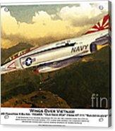 F4-phantom Wings Over Vietnam Acrylic Print