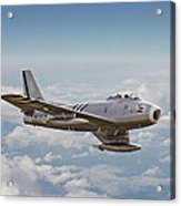 F86 Sabre Acrylic Print by Pat Speirs