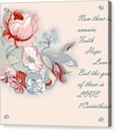 Fabric Floral Acrylic Print