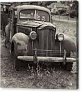 Fabulous Vintage Car Black And White Acrylic Print