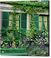 Facade Of Claude Monets House, Giverny Acrylic Print
