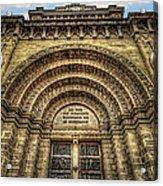 Facade Of Manila Cathedral Acrylic Print