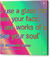Face And Soul Definitions Acrylic Print