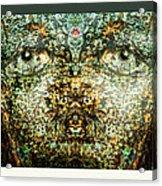 Face Bark Within Acrylic Print
