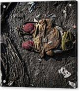Face Doon In The Dirt Acrylic Print
