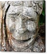 Face In A Tree Acrylic Print