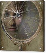 Face In Broken Mirror Acrylic Print