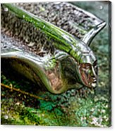 Face In Chrome Acrylic Print
