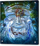 Face In Glass Acrylic Print