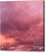 Face In The Clouds 2 Acrylic Print
