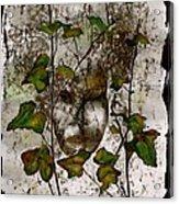Face In The Garden Acrylic Print
