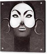 Face Moon Acrylic Print by Yosi Cupano