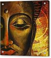 Face Of Buddha  Acrylic Print