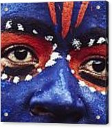 Face Of Carnival Acrylic Print by Ian Cumming