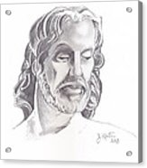 Face Of Jesus Acrylic Print by John Keaton