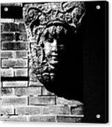 Face Of Stone Acrylic Print
