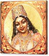 Face Of The Goddess - Lalitha Devi  Acrylic Print