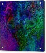Face Mandelbulb Fractal Acrylic Print