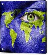 Face The World Map Acrylic Print