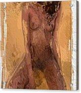Faceless Girl Acrylic Print