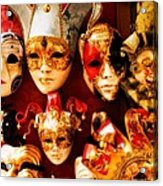Faces Of Carnavale Acrylic Print