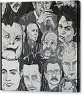 faces of Gary Oldman Acrylic Print