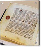 Facsimile Of A 13th Century Koran Acrylic Print