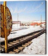Factory Railroad Acrylic Print