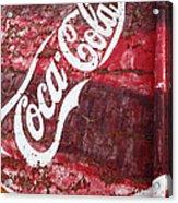 Faded Coca Cola Mural 2 Acrylic Print