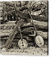 Faded Country Time Banjos Acrylic Print