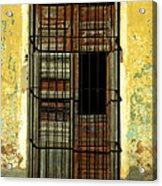 Faded Wooden Shutters In Cuba Acrylic Print