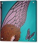Faerie And Butterfly Acrylic Print