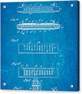 Fairfield Harmonica Patent Art 1897 Blueprint Acrylic Print