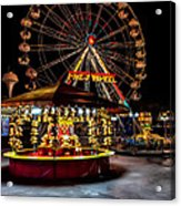 Fairground At Night Acrylic Print