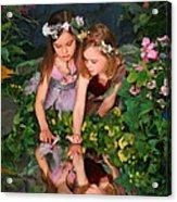 Fairies And Dragonflies Acrylic Print