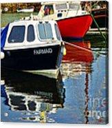 Fairmaid At Mousehole Harbour Acrylic Print
