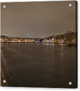 Fairmount Dam At Night Acrylic Print