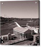 Fairmount Waterworks And Dam In Sepia Acrylic Print