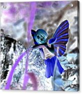 Fairy In The Woods Surreal Acrylic Print