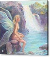 Fairy Of The Falls Morning Bath Acrylic Print by Gwen Carroll