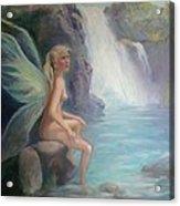 Fairy Of The Secret Falls Acrylic Print by Gwen Carroll