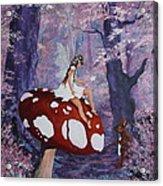 Fairy On A Mushroom Acrylic Print