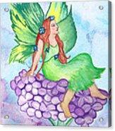 Fairy On Lilac Acrylic Print