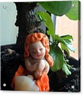 Fairy Puney Cuteness Wiseness Ooak Doll Doll House Acrylic Print by TriyaandNora Sculpts