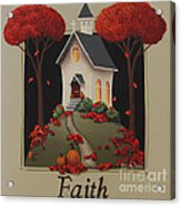 Faith Country Church Acrylic Print